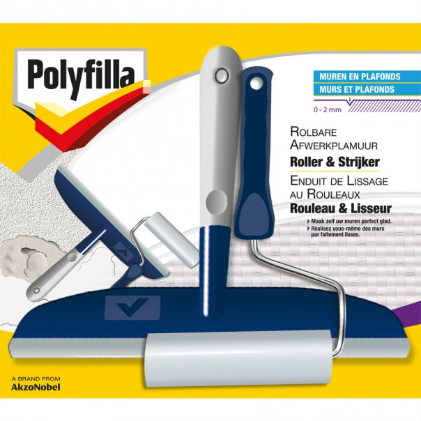 Enduit de lissage au rouleau lisseur polyfilla be fr for Appliquer enduit de lissage